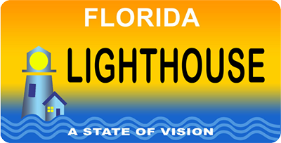 """A State of Vision"" Florida Specialty License Plate"